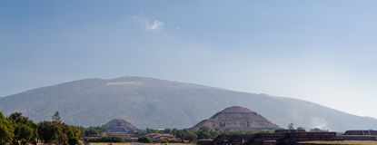 Teotihuacan Pyramid of The Sun and Moon Stock Images