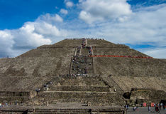 Teotihuacan, Pyramid of the Sun, Mexico  Stock Photo
