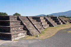 Teotihuacan Pyramid Temples Mexico Royalty Free Stock Photos