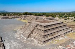 Teotihuacan Pyramid Temples Mexico Stock Photos