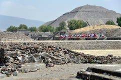 Teotihuacan Pyramiden, Mexiko stockbild