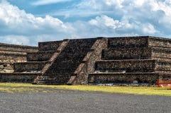 teotihuacan pyramider Arkivbild