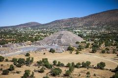 Teotihuacan pyramider Mexico Royaltyfri Bild