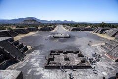 Teotihuacan pyramider Mexico Arkivbild
