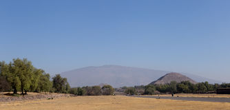 Teotihuacan pyramider, Mexico Fotografering för Bildbyråer