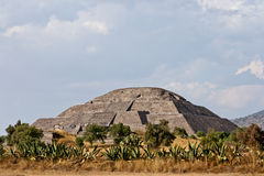 Teotihuacan Pyramids Stock Images