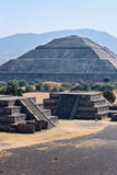 Teotihuacan Pyramids. Pyramid of the Sun. Teotihuacan. Mexico. View from the Pyramid of the Moon royalty free stock photos