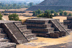 Teotihuacan Pyramids Stock Photo