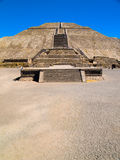 Teotihuacan Pyramids. Near Mexico City Royalty Free Stock Photo