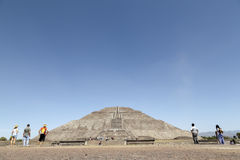 Teotihuacan Pyramids in Mexico Stock Images
