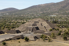 Teotihuacan Pyramids in Mexico. Are part of the archaeological site in the Basin of Mexico, just 30 miles (48 km) northeast of Mexico City, containing some of Royalty Free Stock Photo