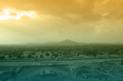 Teotihuacan Pyramids Royalty Free Stock Photos