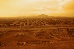 Teotihuacan Pyramids Stock Image