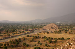 Teotihuacan Pyramids Royalty Free Stock Image