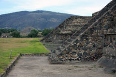 Teotihuacan pyramids with the Pyramid of the Moon in background Stock Photos