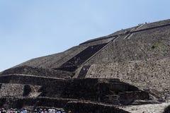 teotihuacan pyramidsun Royaltyfri Foto