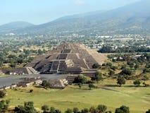 Teotihuacan - rovine antiche vicino a Città del Messico immagini stock
