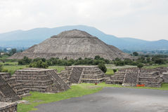 Teotihuacan, sun pyramid Royalty Free Stock Photos