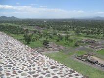 Teotihuacan Treppen Stockfoto