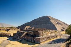 Teotihuacanpiramide van de Zon, Mexico Stock Foto's