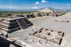Teotihuacanpiramides Mexico Royalty-vrije Stock Afbeeldingen