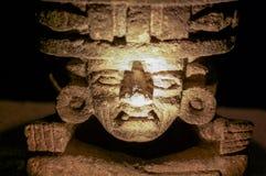 从Teotihuakan的石神象 图库摄影