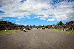 Teotihuakan Mexico arkivfoto