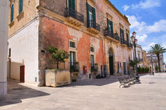Teotini palace. Specchia. Puglia. Italy. Royalty Free Stock Photography