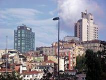 Tepebasi, Istanbuł miasta krajobrazu budynki zdjęcie stock