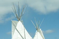 Tepee. Traditional style Native American Tepee, against blue sky Royalty Free Stock Image
