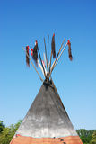 Tepee. Roof of tepee against blue sky Royalty Free Stock Photography