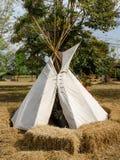 Tepee autentico del nativo dell'indiano Fotografia Stock Libera da Diritti