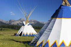Tepee. Authentic tepee from Native North Americans Stock Photos