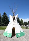 Tepee at Buffalo Bill Center of the West. CODY, WYOMING - JUNE 24, 2017: Tepee at Buffalo Bill Center of the West. A complex of five museums and a research Royalty Free Stock Photo