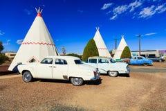 Tepee del motel del wigwam Fotografia Stock Libera da Diritti