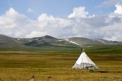 Tepee des peuples de Dukha en Mongolie du nord photos libres de droits