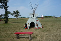 A tepee on display in south dakota Royalty Free Stock Images