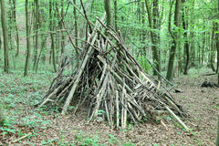 Tepee. Frame in the forest Royalty Free Stock Photography