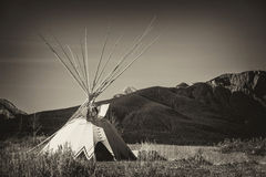 Tepee in the Great Plains of Alberta Royalty Free Stock Photography