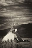 Tepee in the Great Plains of Alberta Stock Photography