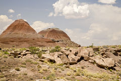 TePee Hills Petrified Forest National Park. TePee Hills badlands in Petrified Forest National Park in Northern Arizona Stock Photography