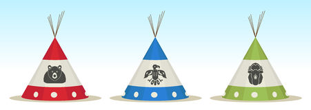 Tepee house Stock Photo