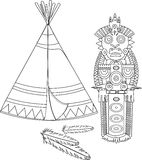 Tepee indien Photos stock