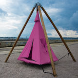 Tepee near the waterfront Royalty Free Stock Photography