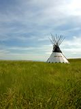 Tepee on the praires 2. Indian tepee in the praires Stock Images