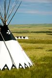 Tepee on the prairies 1 Stock Photos