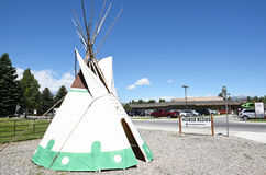 Tepees at Buffalo Bill Center of the West. CODY, WYOMING - JUNE 24, 2017: Tepee at Buffalo Bill Center of the West. A complex of five museums and a research