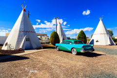Tepees de motel de tipi Images libres de droits