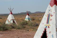 Tepees de Natif américain Photographie stock libre de droits