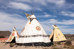Tepees at the Fort Bravo Cinema Studios Royalty Free Stock Photo